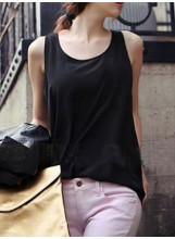 Pastel chiffon vest top