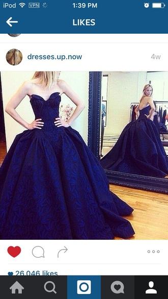 dress ball gown dress big dress blue dress beautiful ball gowns ball gowns royal blue prom dress