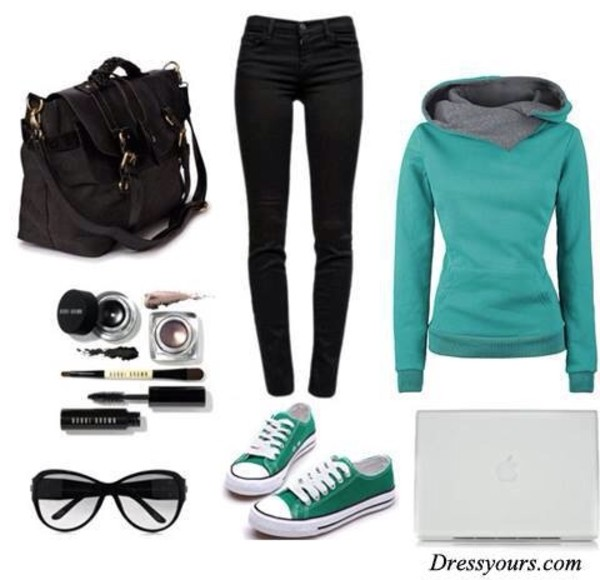 sweater jeans shoes bag