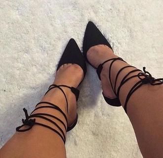 shoes black black heels black stilettos strappy lace up