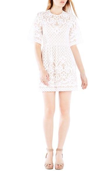 BCBGMAXAZRIA 'Jillyan' Lace Fit & Flare Dress | Nordstrom