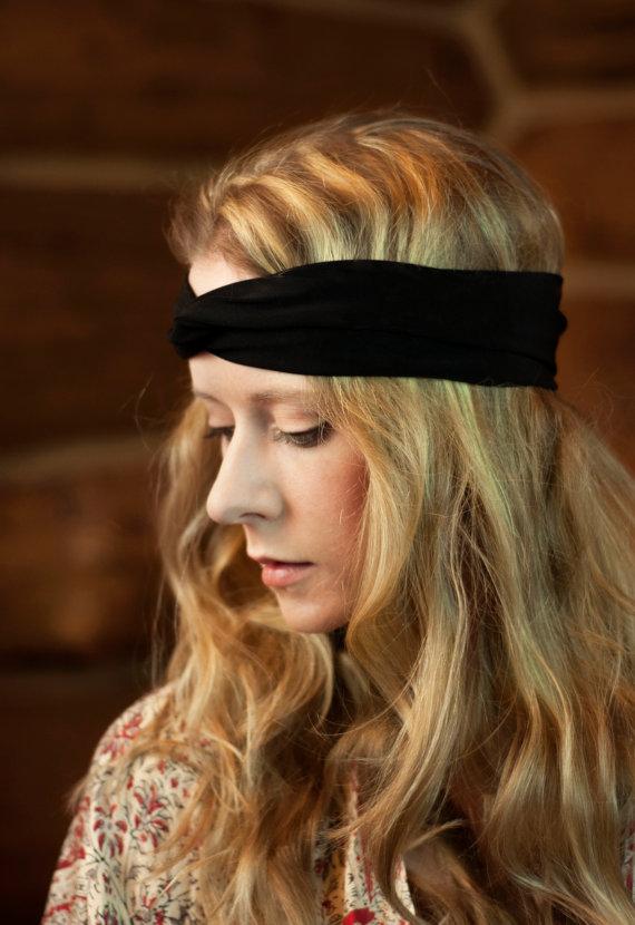 Black Twist Headband 02f00a00047