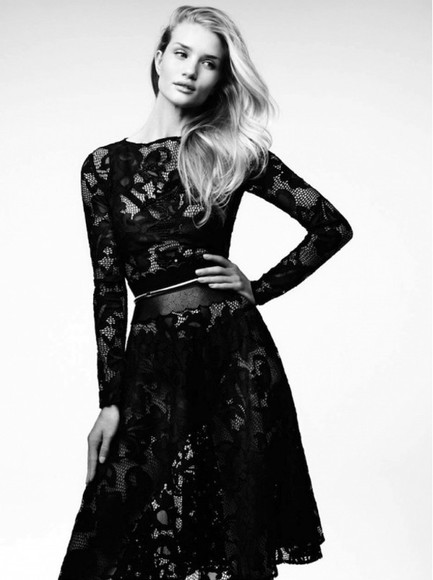 rosie huntington-whiteley dress lace dress