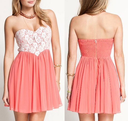 Fashion lace wrapped chest nicedress / dopediva