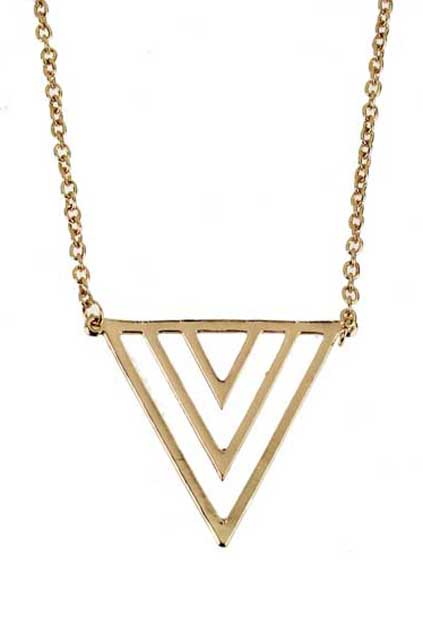 Hollow out neon triangle necklace [an1354]