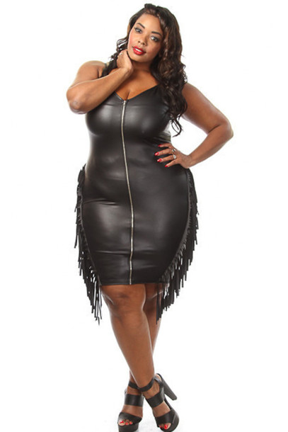 dress, pinkclubwear, plus size, plus size dress, faux leather ...