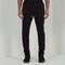 Elasticated slim-fit trouser - black