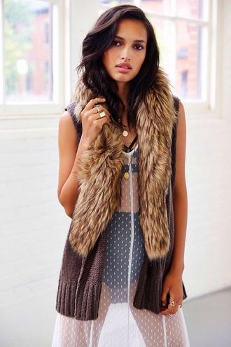 coat vest fur coat fur vest fashion