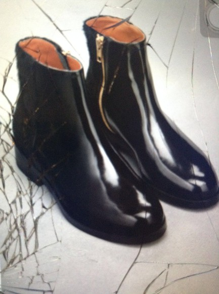 shoes boots ankle boots leather