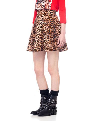 Leopard Print Skater Skirt June 2017