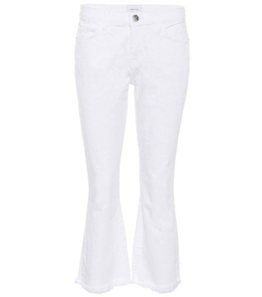 Current/Elliott The Cropped flip flop jeans in white