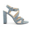 Beautiful sandals - blue suede sandals