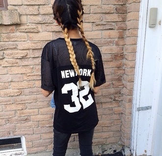 shirt black shirt white shirt black and white skirt new york shirt numbers see through top see through blouse see through black shirt streetwear streetstyle urban blouse t-shirt