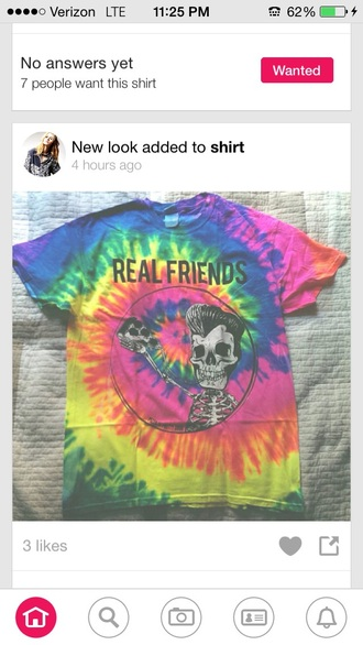 t-shirt tie dye shirt friends