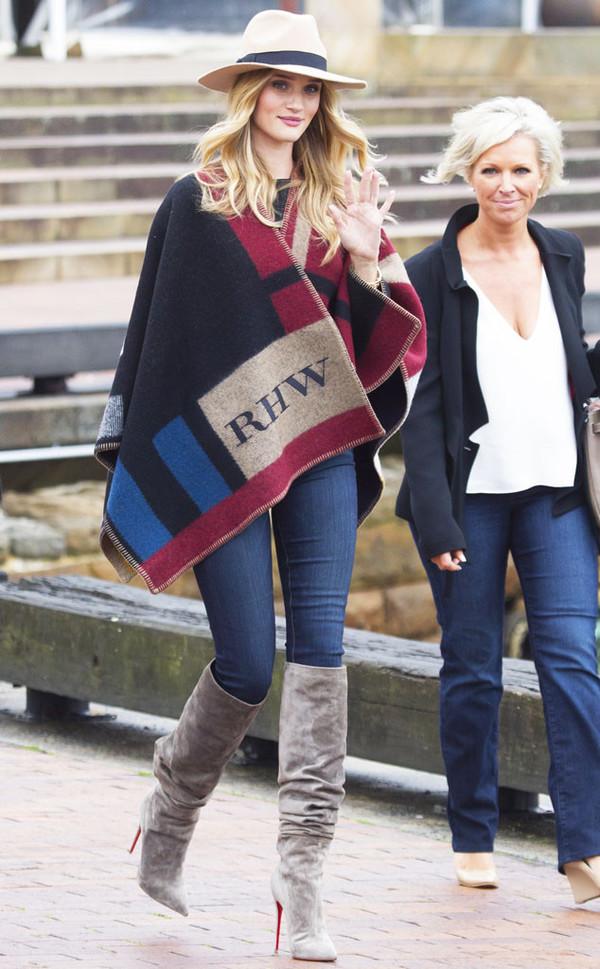 boots cape rosie huntington-whiteley jeans shoes