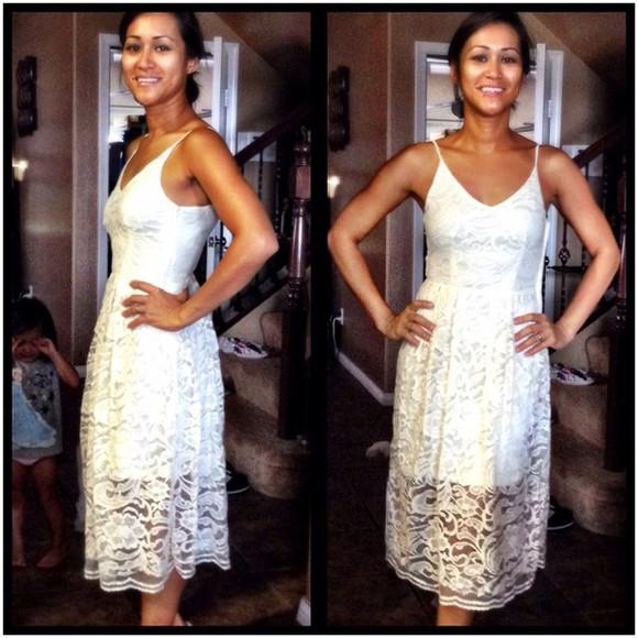 dress lace dress midi dress summer dress beige pretty dress pretty dress!