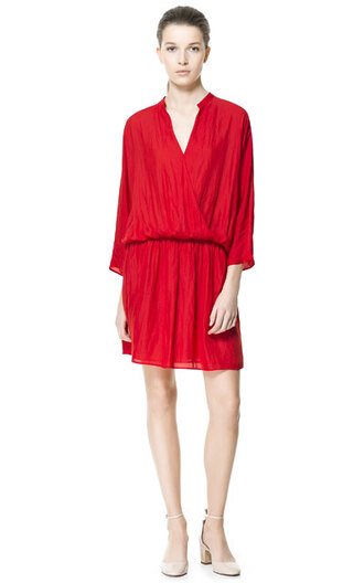 dress zara red dress summer dress summer short dress v neck dress colorful classic casual dress zara dress girl women women dress casual