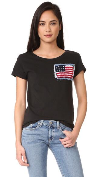 american flag american black top