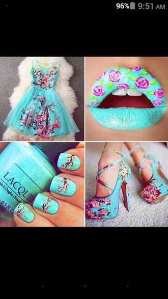 dress floral heels floral dress floral heels girly
