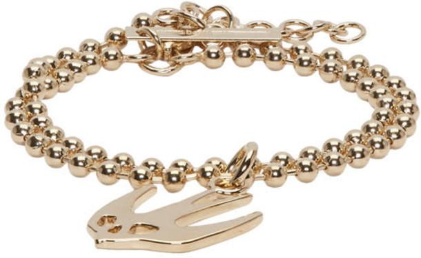 McQ Alexander McQueen gold jewels