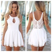 romper,summer dress,beach,2014,lace,lace playsuit,lacey playsuit,summer outfits,beach dress,dropped waist,cotton dresss,cotton rib,knitwear,dress,jumpsuit,party dress,white,cute dress,black dress,summer,holidays