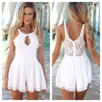 romper summer dress beach 2014 lace lace playsuit lacey playsuit summer outfits beach dress dropped waist cotton dresss cotton rib knitwear dress jumpsuit party dress white cute dress black dress summer holidays