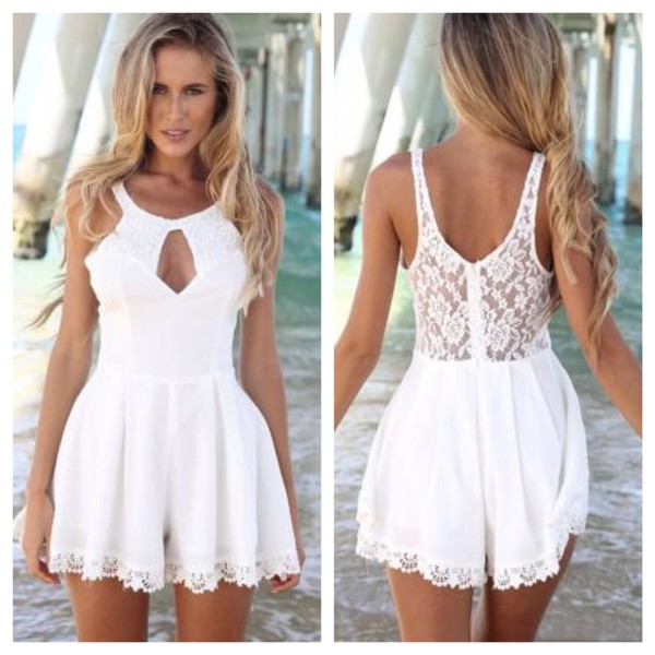 romper summer dress beach beach 2014 lace lace playsuit lacey playsuit romper summer outfits summer outfits beach dress dropped waist cotton dresss cotton rib knitwear dress jumpsuit party dress white cute dress black dress summer lace holidays