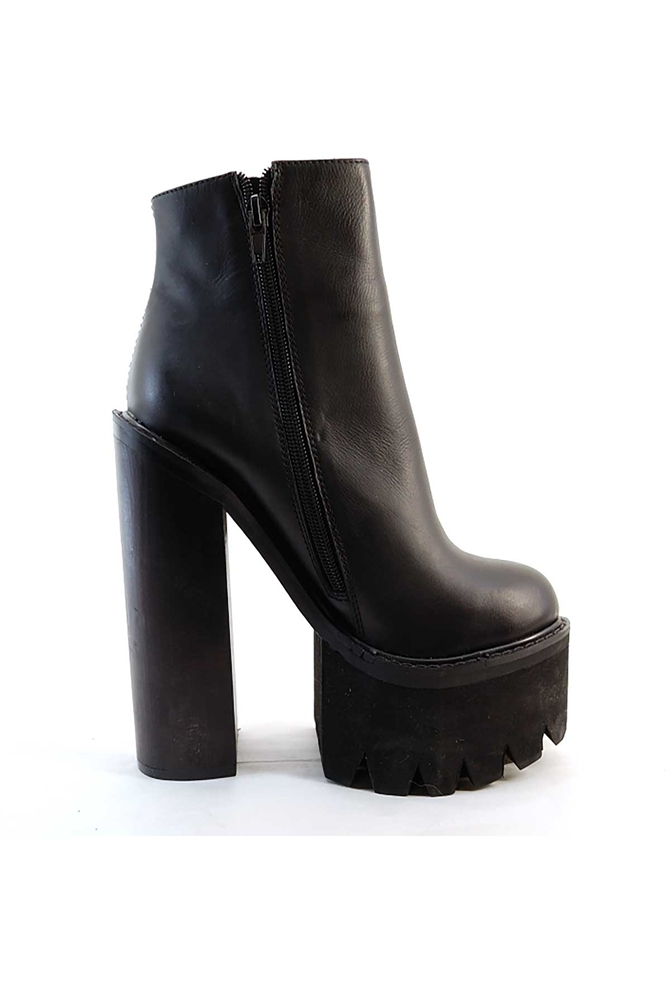 Jeffrey Campbell Lynch Black Leather Boot