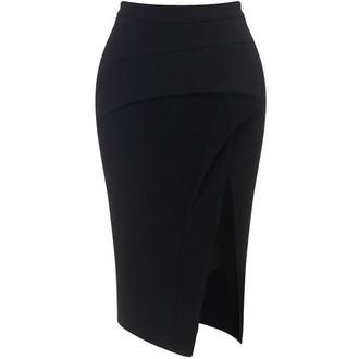 skirt black skirt slit skirt