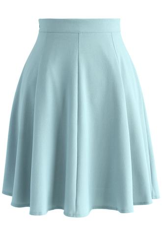 skirt blue a-line skirt basic