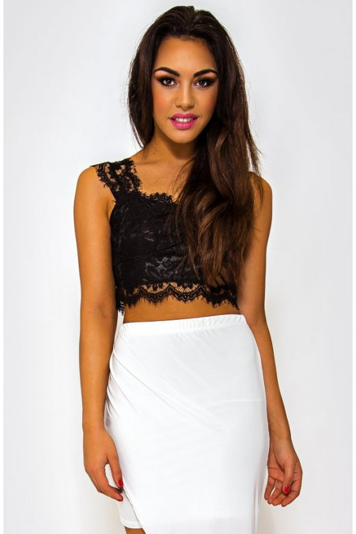06a3a98ec6602 Black Lace Bralet Top - from The Fashion Bible UK