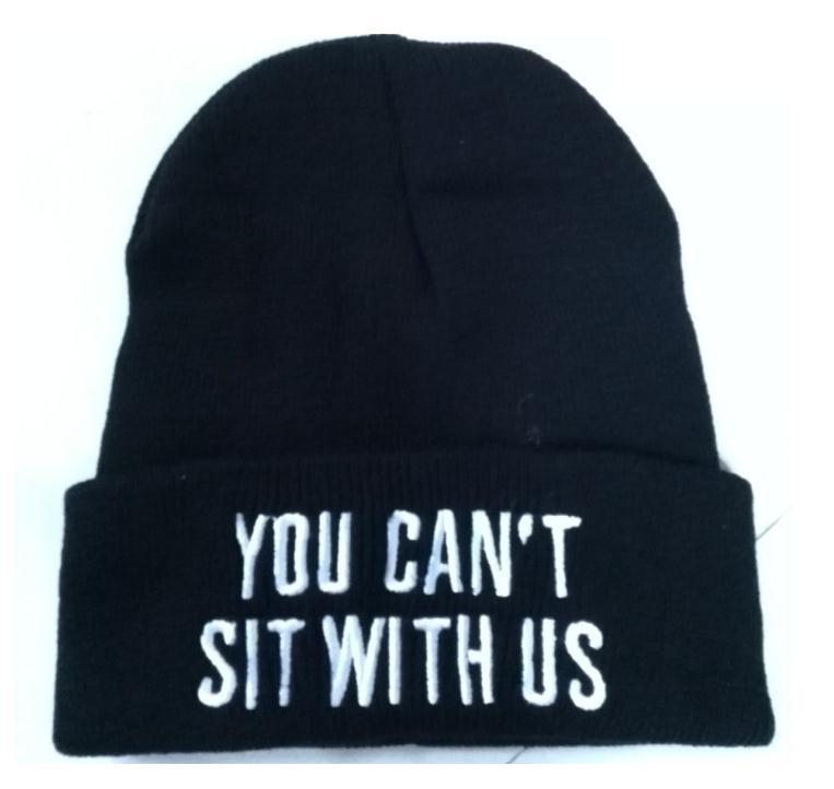 Cheap you cant sit with us Beanie Black Winter Wool Knitted Hat For Men Women Caps Casual Skullies Hip hop London Boy FY RC061-in Skullies & Beanies from Apparel & Accessories on Aliexpress.com