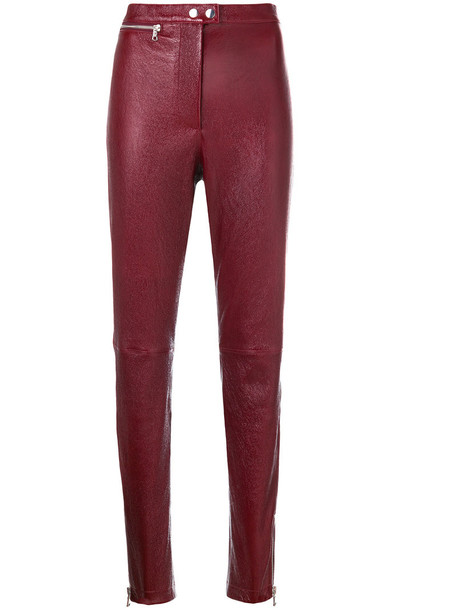 3.1 Phillip Lim high waisted high women red pants