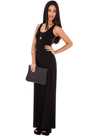 Strap back detail maxi dress