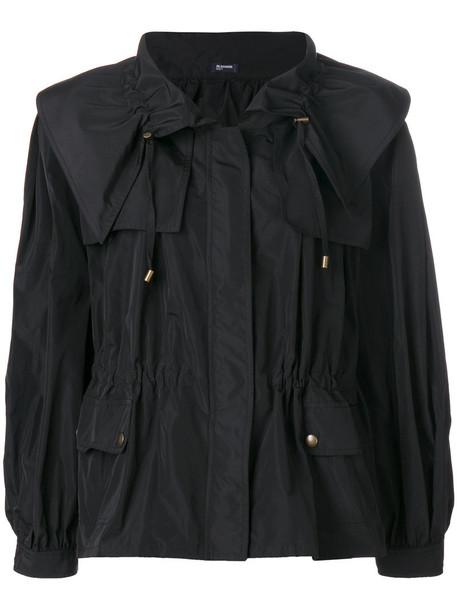 Jil Sander Navy jacket women drawstring black