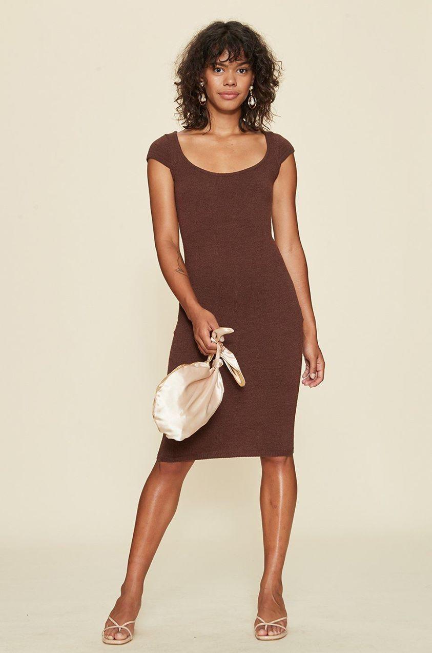 Ruby Dress in Brown