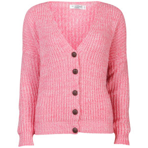 Moku Women's Chunky Mix Knit Cardigan - Coral 			Womens Clothing | TheHut.com