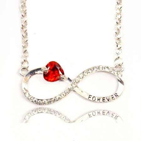 Fashuun Village Designer Infinity Forever and Always Love Pendant Necklace