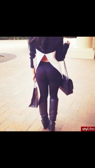 shirt leggings dope fashion high heels bag girly style cute high heels top blouse black jeans black heels
