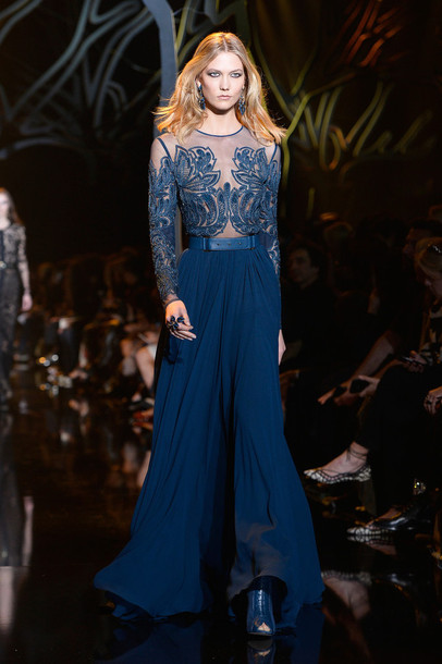dress karlie kloss fashion week 2015 gown lace dress lace