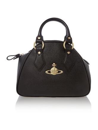 bag black bag party bag vivienne westwood orb gold sequins