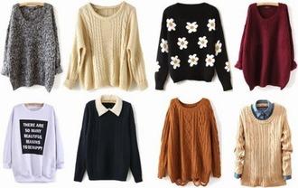 sweater daisy jumper winter sweater collar
