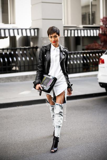 raww shirt jeans bag shoes