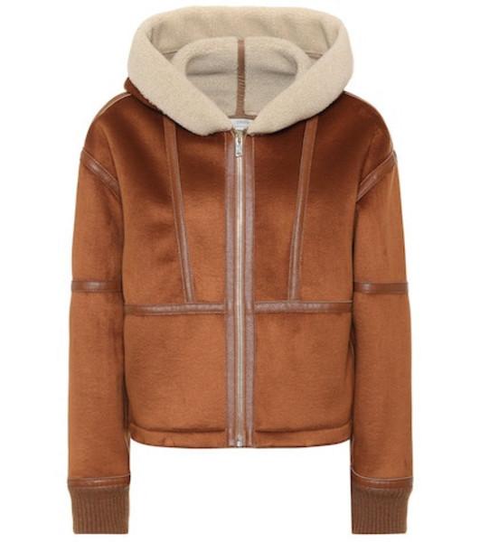 Stella McCartney Faux shearling-trimmed jacket in brown