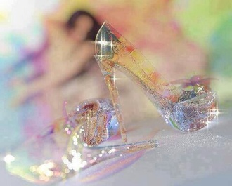 shoes disney disney princess cinderella cinderella shoes see through glitter