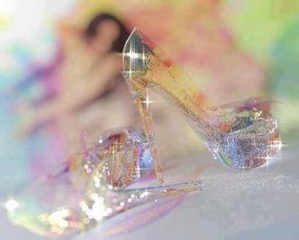 shoes glitter disney disney princess cinderella cinderella shoes see through