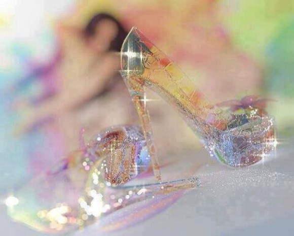 shoes glitter disney disney princess cinderella cinderella shoes see through