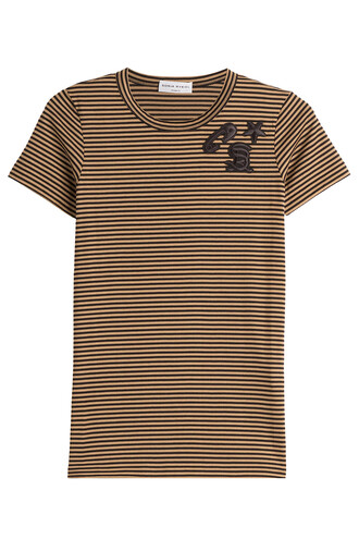 t-shirt shirt cotton t-shirt cotton stripes top
