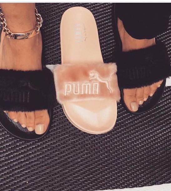 6b914de36d87 shoes puma slides puma slippers fur slippers