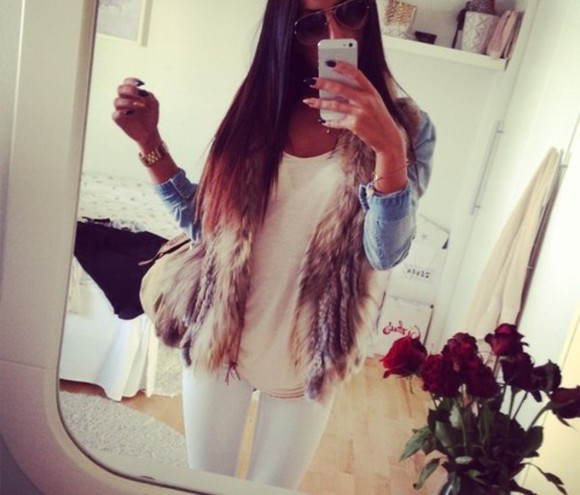 blue jacket jacket white fur pels fur jacket
